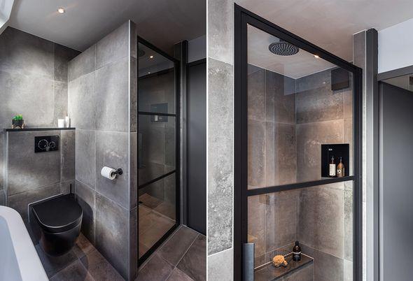 Binnenkijken bij een badkamer met zwart sanitair in Woerden (Astra en Badenplus) - Alinea 2