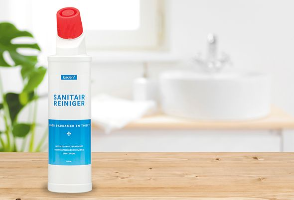 Baden+ schoonmaakmiddelen - 1. sanitairreiniger en microreiniger