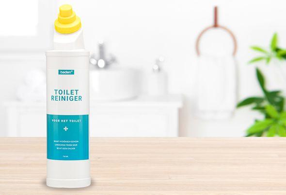 Baden+ schoonmaakmiddelen - 2 toiletgel en spiegelreiniger