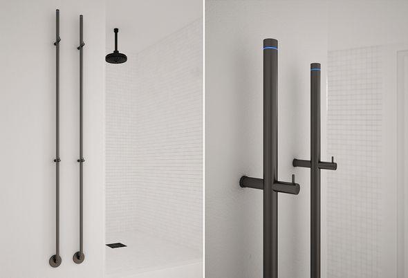 Badkamer accessoires zwart - Zwarte lamp