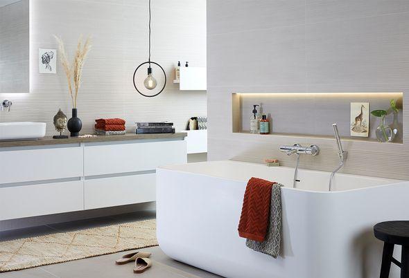 5 badkamer voorbeelden: moderne badkamer - Badkamer in hotel-stijl
