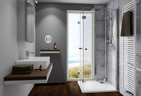 Inspiratie: voor een kleine badkamer - Een kleine badkamer met inloopdouche