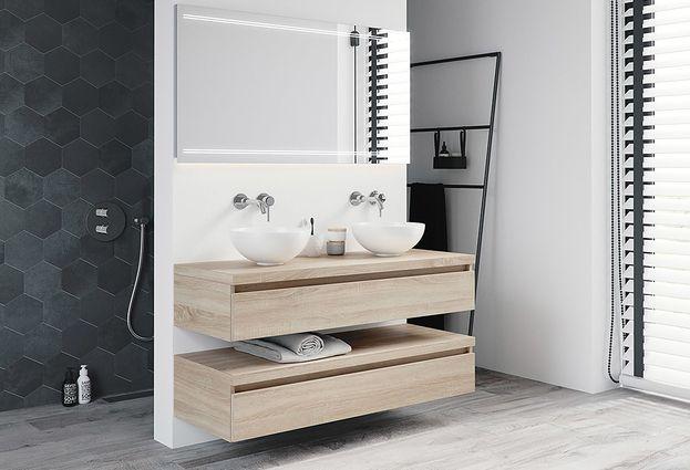 Complete badkamermeubels van hout op maat gemaakt