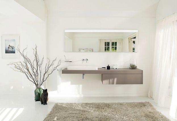 Badkamermeubel met wastafel en ruimte voor toiletspullen