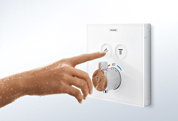 Inbouwkraan met showerselect bedieningspaneel