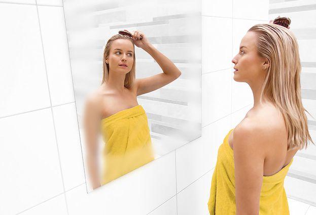 Badkamerspiegel met verwarming om beslaan tegen te gaan