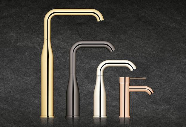 Grohe Essence New Colour badkamerkranen - 1. Grohe Complete serie in maat S tot XL