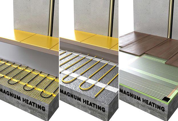 Magnum vloerverwarming - 1. Magnum drie elektrische verwarmingssystemen