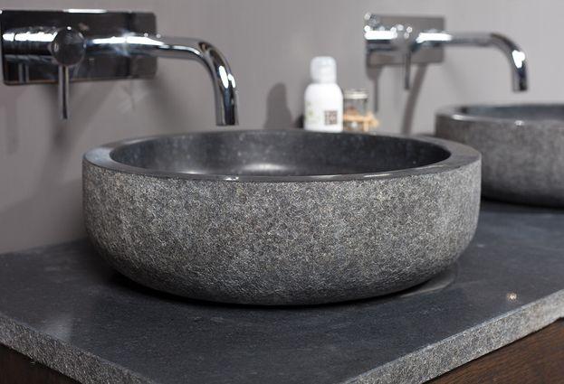 Natuurstenen wastafels en douchebakken - 4. Forzalaqua Natuur opzetkommen