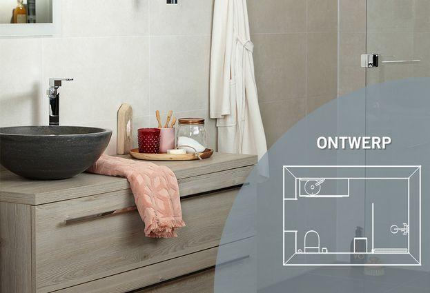 Kleine badkamer met inloopdouche - Kenmerken Day time Mix & Match badkamer
