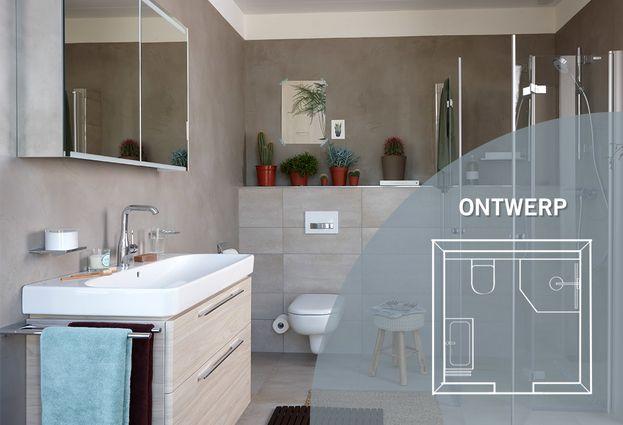 Moderne betonstuc beton ciré badkamer baden