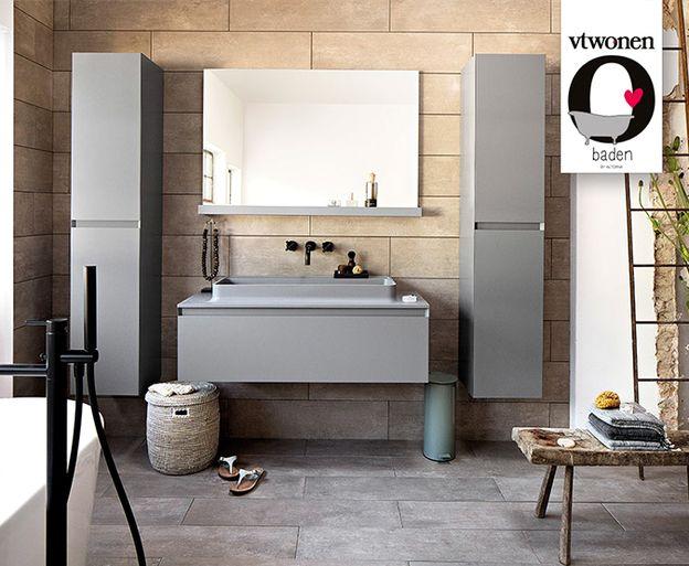 vtwonen - 2. Tilburg Mooie grijs en wittinten in je badkamer