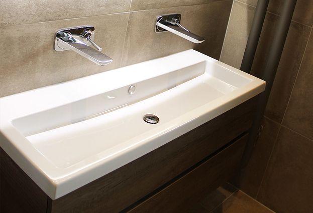 Kleine badkamer en toilet in nunspeet de wilde tegels & sanitair