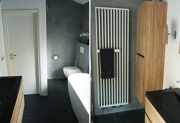 Betonstuc badkamer in Arnhem - Gitsels Badkamers