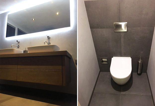 Stoere badkamer in Oldemarkt - samenvatting