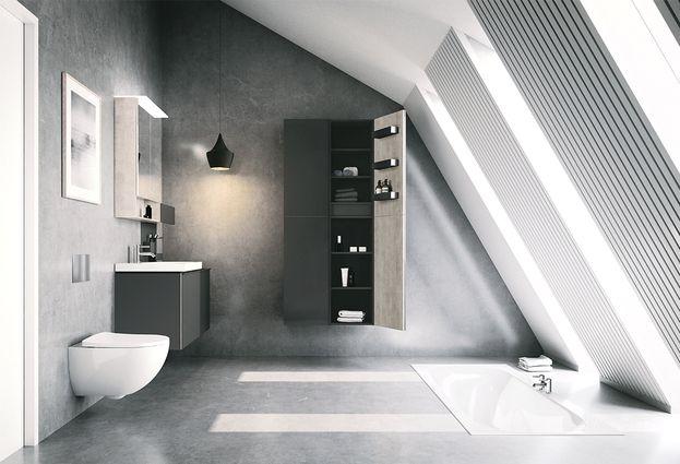 Geberit Acanto - 4: Acanto rimfree toilet en bad