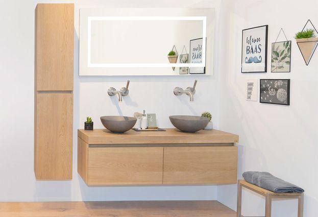 Houten Onderkast Badkamer : Looox eikenhouten badkameraccessoires u baden