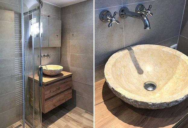 Badkamers Natuurlijke Materialen : Natuurlijke badkamer in nunspeet de wilde tegels sanitair