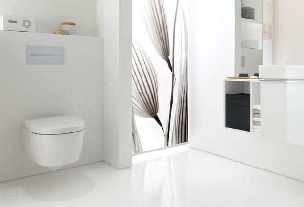 Toilet - voorbeeld van verkort toilet voor ruimtebesparing