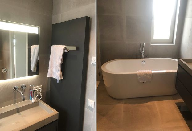 Moderne badkamer en toilet in Zutphen - samenvatting