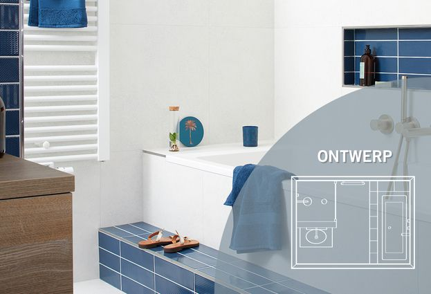 Badkamer met blauwe tegels - Kenmerken badkamer met blauwe tegels