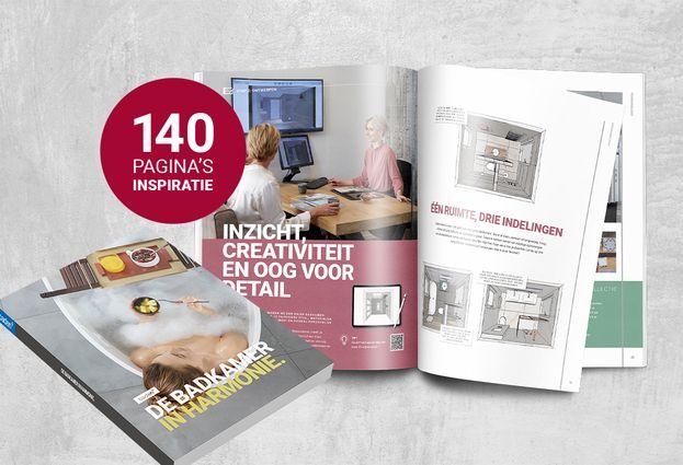 Badenplus badkamer inspiratieboek - Het badkamerboek reserveren
