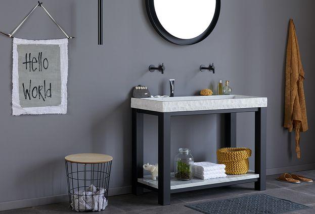 Trend: Industrial chic - 5. Kies voor industriële badkamermeubels