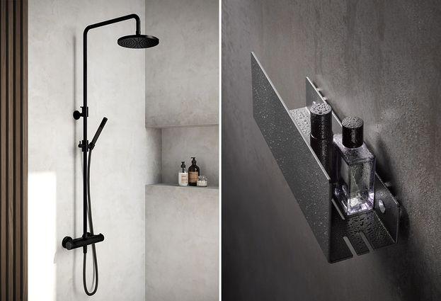 Zwarte doucheset aanbieding - Combideal