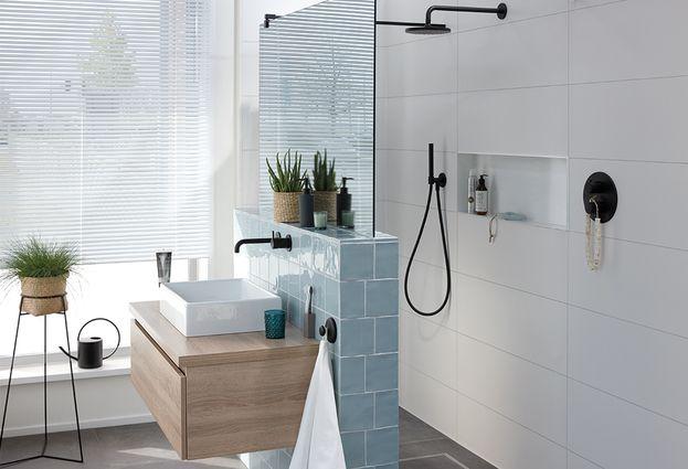 5 kleine badkamer voorbeelden - 5. Trendy badkamer