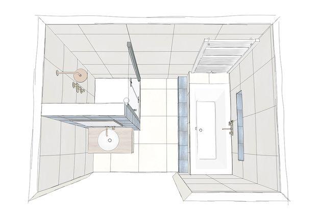 Inspiratie: voor een kleine badkamer - 1. Slim badkamerontwerp