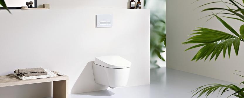 Familie badkamer met AquaClean douchewc