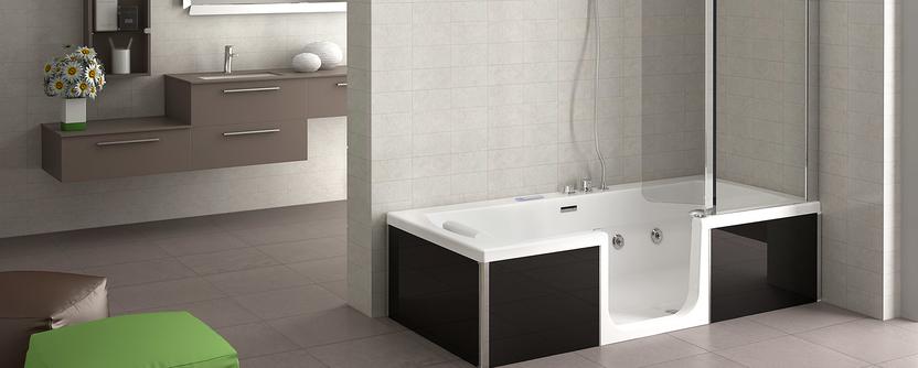 Comfort badkamer - douchebad met veilige instap