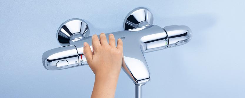 Familie badkamer - Thermostaatkraan met CoolTouch technologie