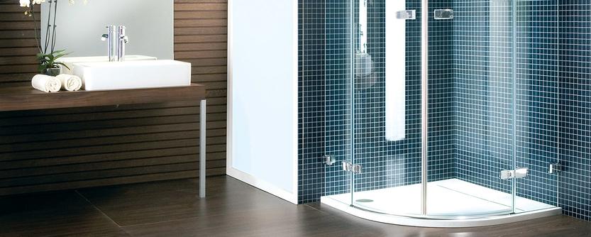 Kleine badkamer - Douchecabine kwartrond voor extra ruimte