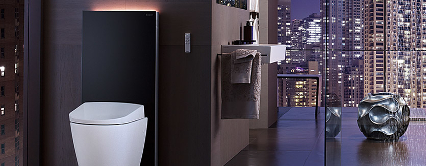 Toilet - douchewc Aquaclean Sela in luxe hotelkamer