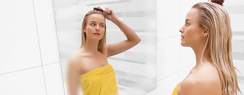 Verwarming in de badkamer - spiegelverwarming