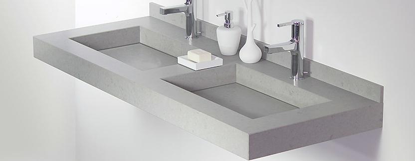 Comfort badkamer - betonlook natuurstenen wastafel