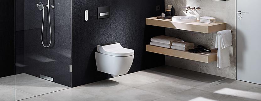 Moderne badkamer - douchewc met nieuwste technologie