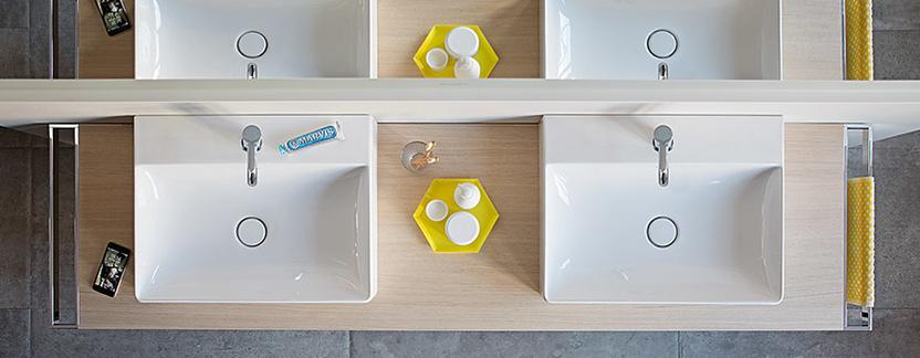Moderne badkamer - wasbak met ultradunne rand