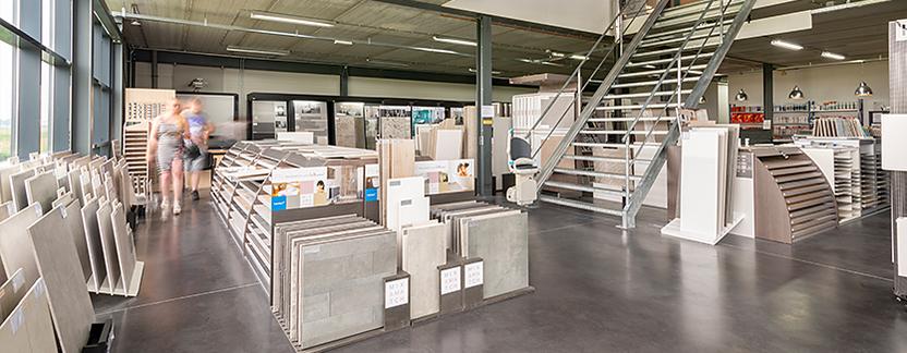 Verwarming & Sanitair Shop showroom tegelafdeling