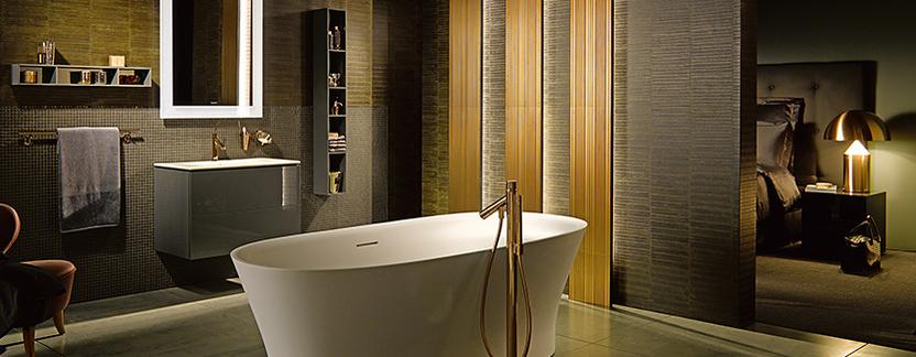Duravit Me by Starck vrijstaand ligbad led spiegelpaneel badkamer