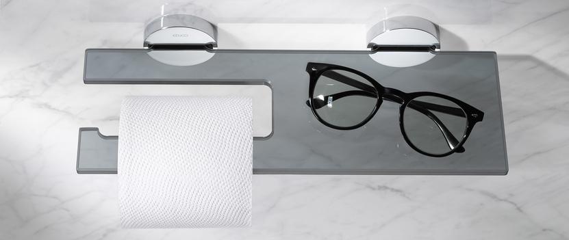 Keuco badkameraccessoires - Edition 90 - toiletrolhouder planchet - glas