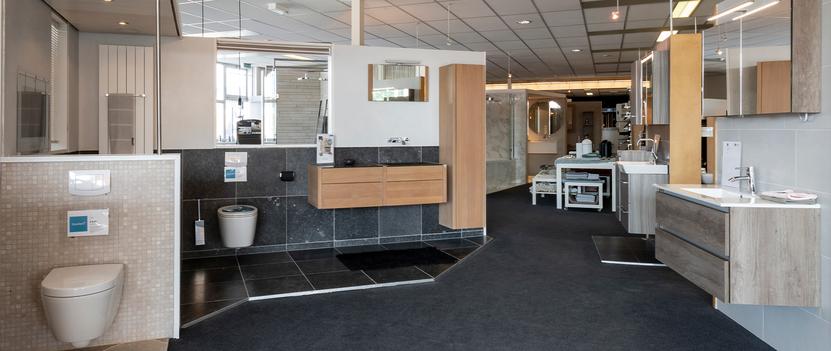 Van der Meulen Badkamers showroom badkameropstellingen