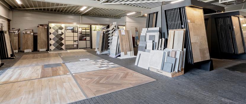 Tegels & Sanitair Hoogeveen showroom tegelafdeling