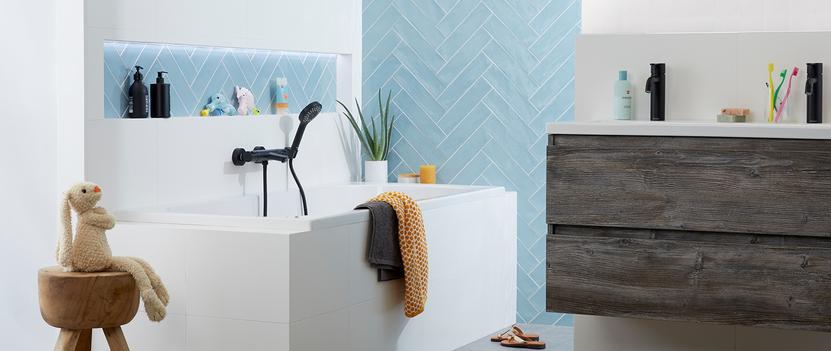 Hippe badkamer voor het gezin