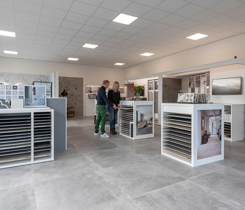 Van Veen Tegels & Sanitair showroom tegelafdeling